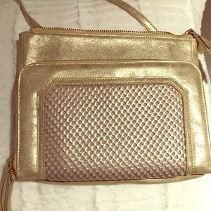 Handbags - Gold Steven Crossbody Purse